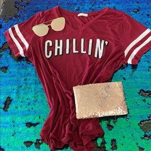 "Maroon ""Chillin"" Top"